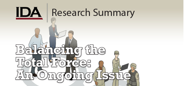 graphic, Balancing the Total Force: An Ongoing Issue
