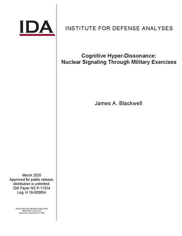 document cover, Cognitive Hyper-Dissonance: Nuclear Signaling Through Military Exercises