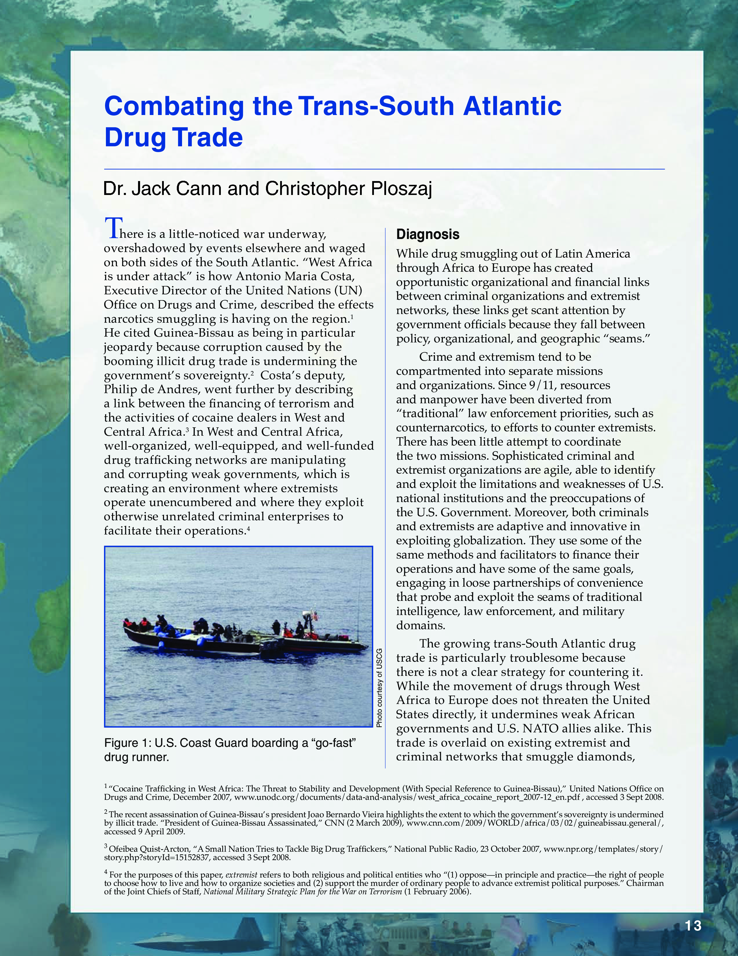Combating the Trans-South Atlantic Drug Trade