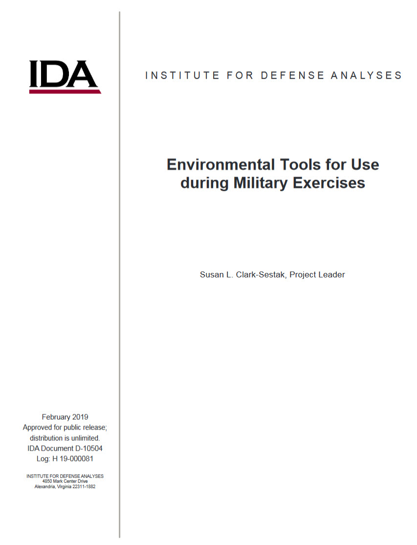 Environmental Tools for Use  during Military Exercises