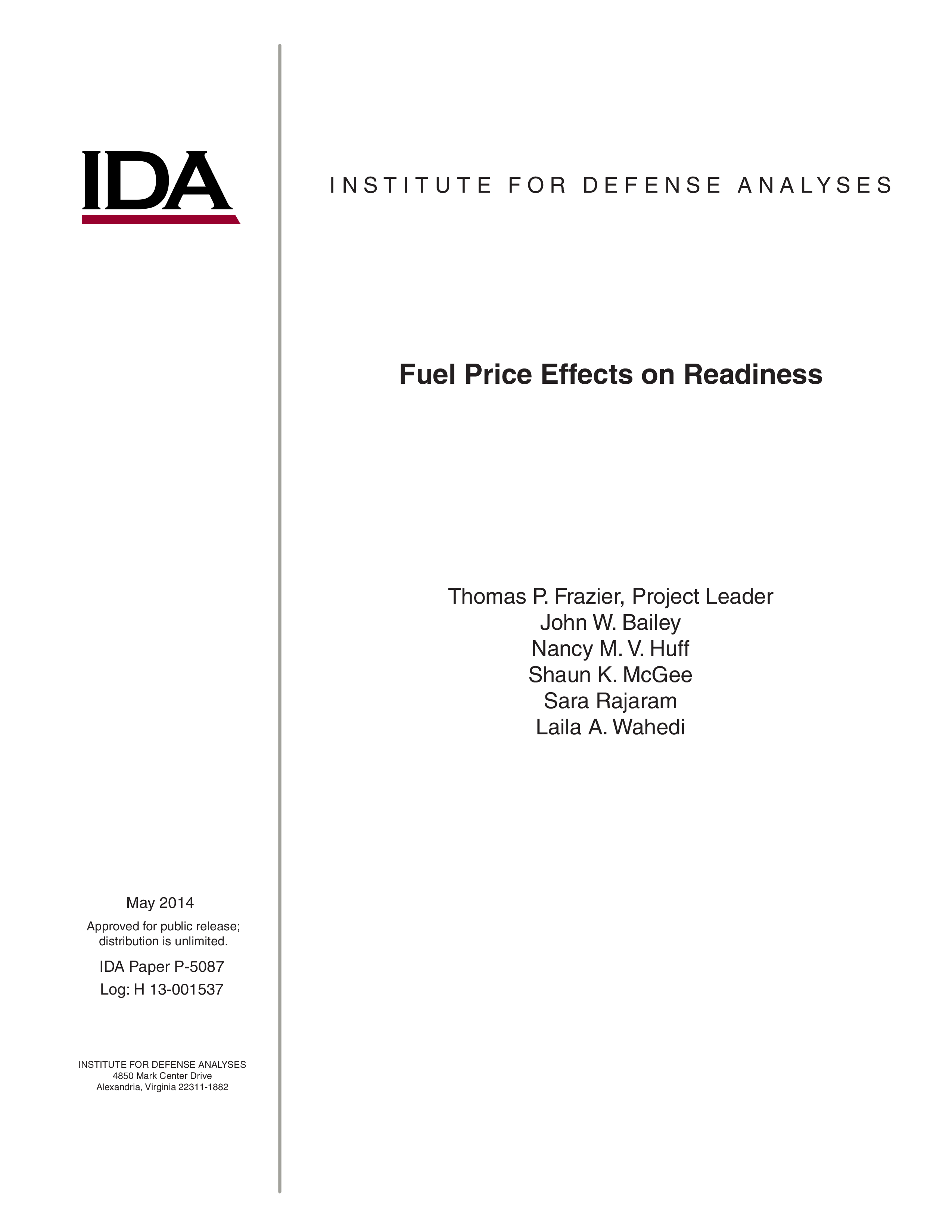Fuel Price Effects on Readiness