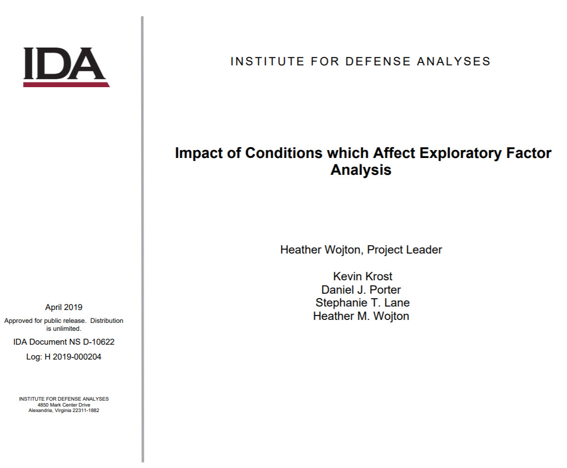Impact of Conditions which Affect Exploratory Factor Analysis