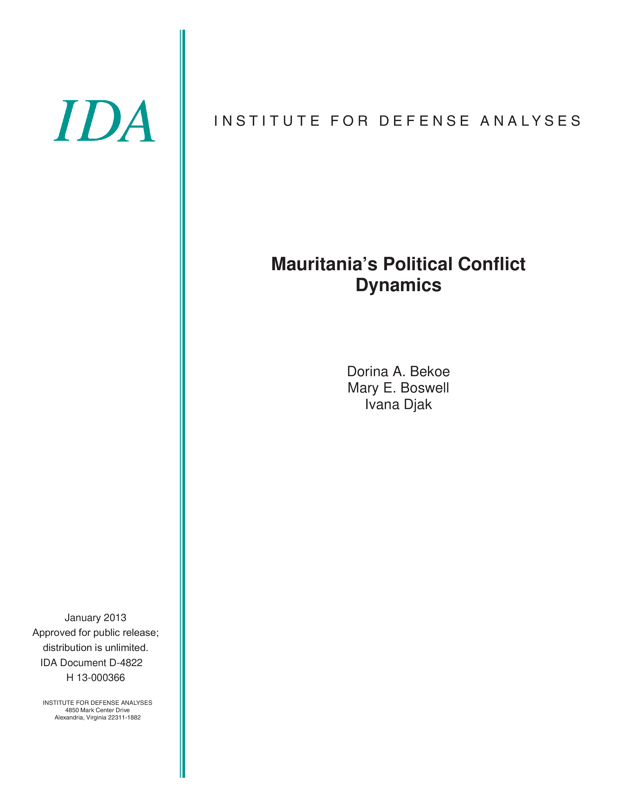 Mauritania's Political Conflict  Dynamics