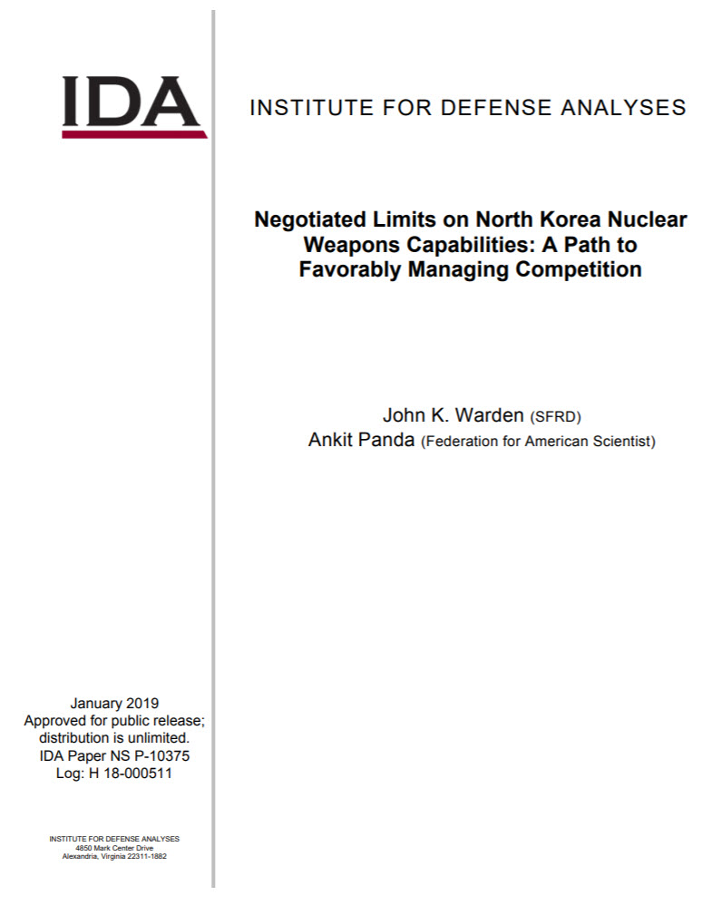 Negotiated Limits on North Korea Nuclear Weapons Capabilities: A Path to Favorably Managing Competition