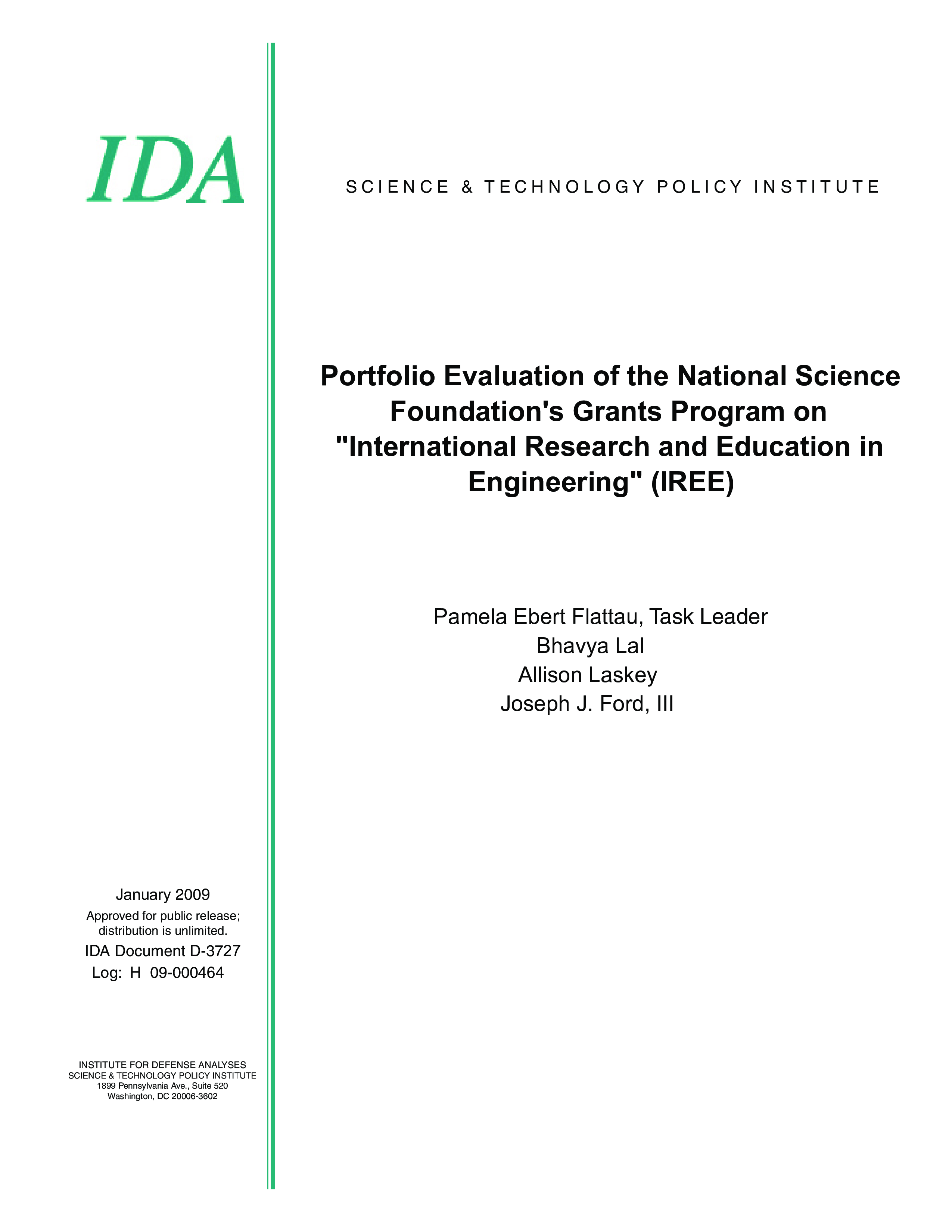 Portfolio Evaluation of the National Science Foundation