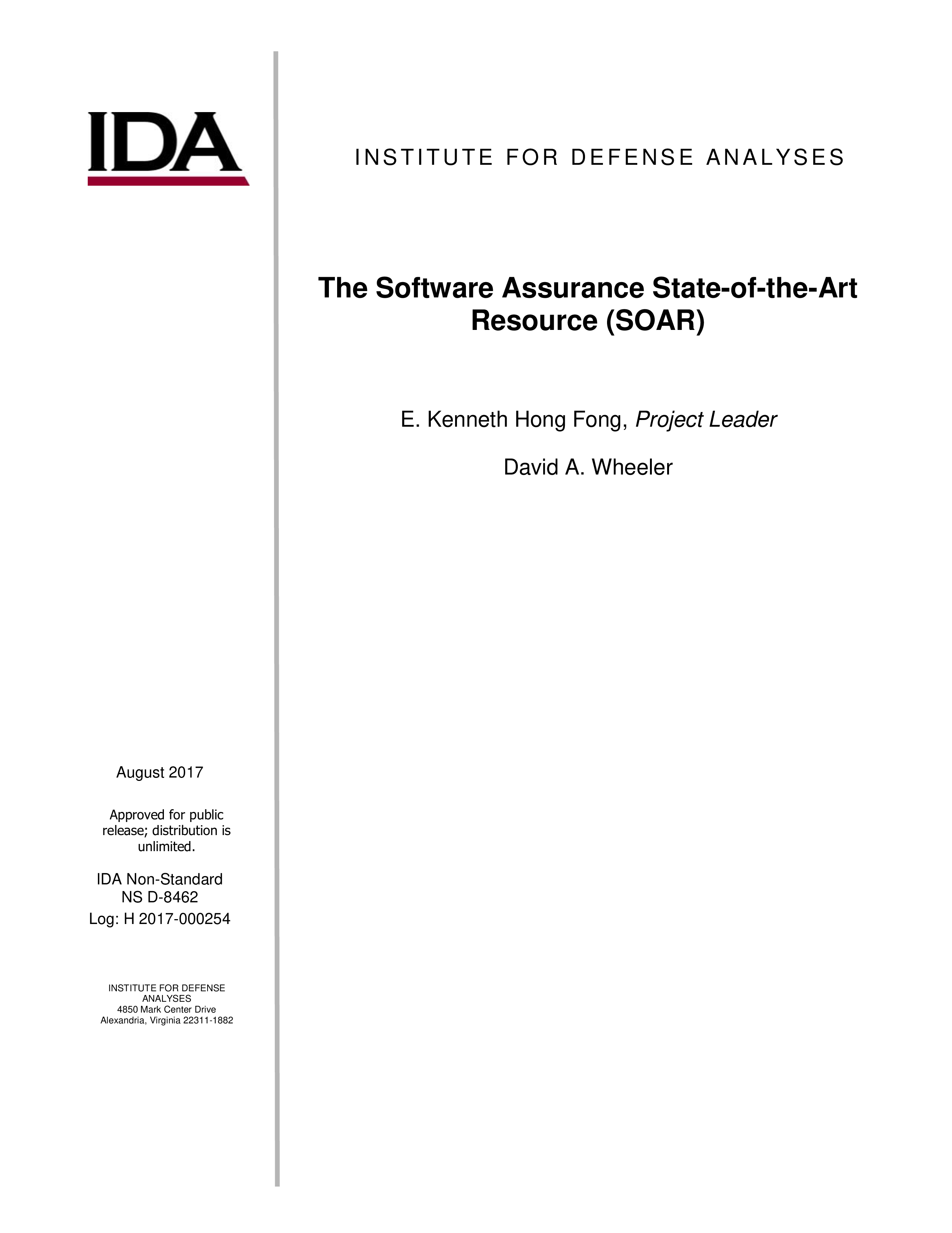 The Software Assurance State-of-the-Art Resource (SOAR)