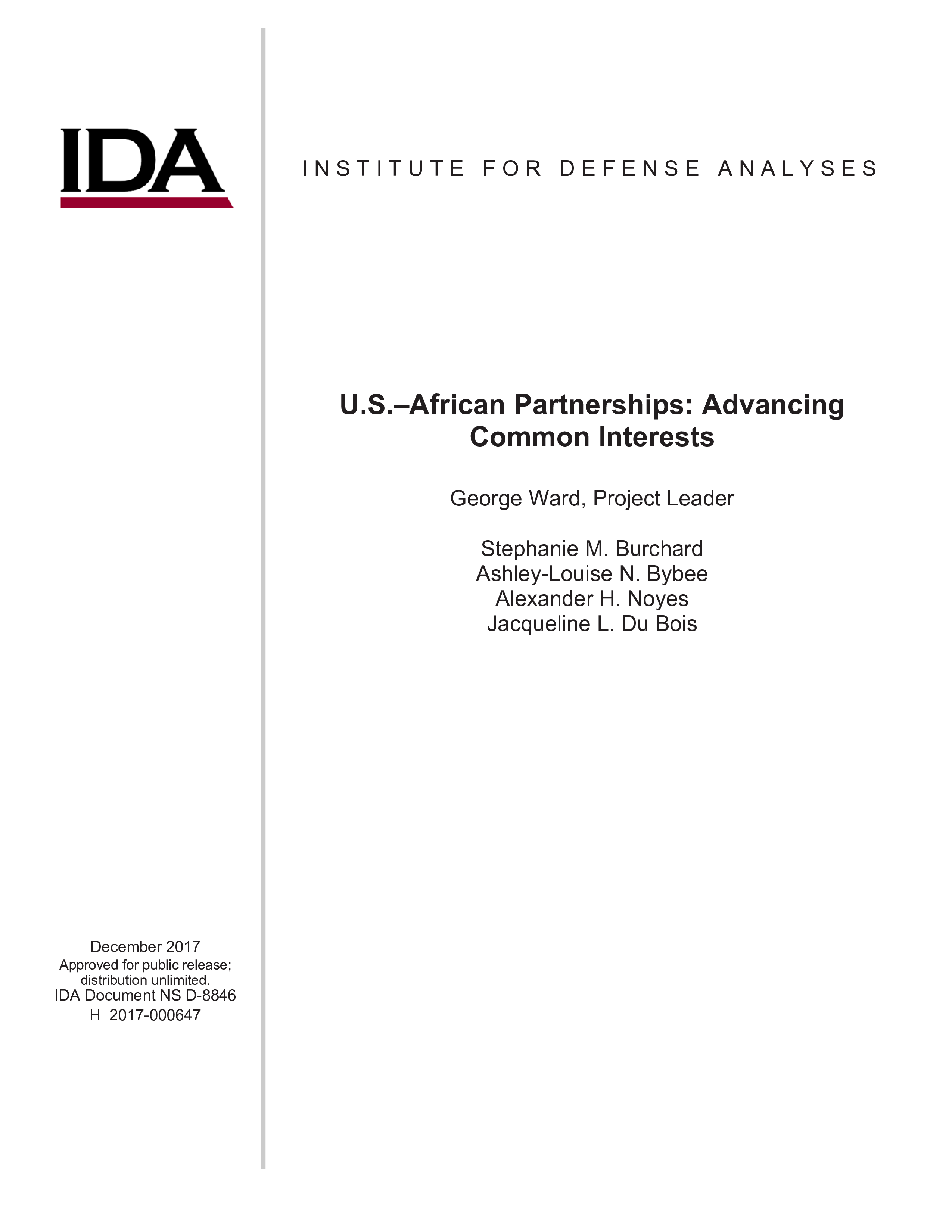 U.S.–African Partnerships: Advancing Common Interests